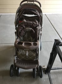 Graco brown stroller