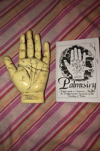 Palmistry Hand Sculpture and Booklet