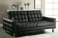 HOT!! Dark Brown  Sofa Bed • $5 Down Payment