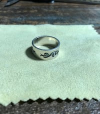 Men solid silver ring for sale.