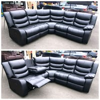 black leather sectional couch collage Dewsbury, WF13
