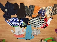 Baby boy clothes 18-24, 2 and some 3