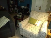 white and green floral sofa chair Levittown