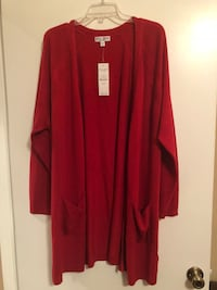 Women's brand new red cardigans. Neither never worn. $25 each  Size 2X and 26/28. Euless, 76039