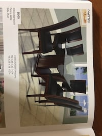 black wooden dining table set Beltsville, 20705
