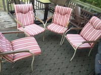 4 patio chairs with cushions $30 Cambridge, N1T 1K9