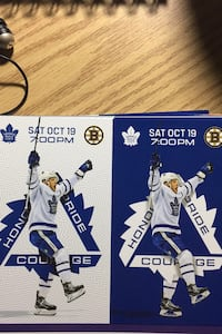 Toronto maple leafs vs Boston bruins tickets  Mississauga, L5R 1Z7