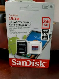 SanDisk Ultra Plus micro SD card with adapter Oshawa, L1H 7C1