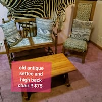 antique settee with chair and coffee table  Omaha, 68105