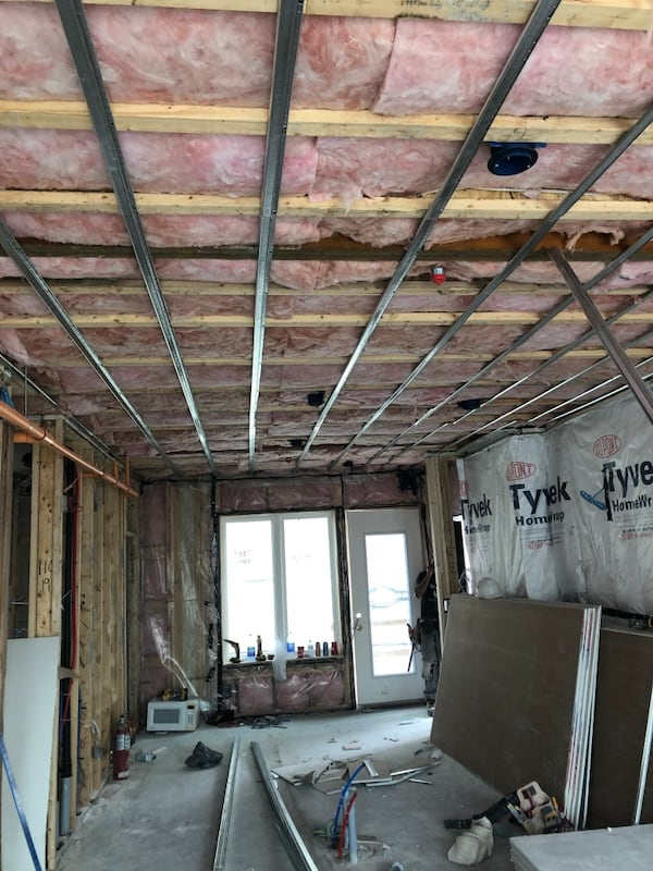 Drywall installation 4