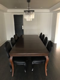 """Solid wood 104"""" dining room table"""