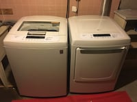 two white front-load clothes washer and dryer set Oakville, L6M 4W6