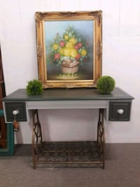 rectangular brown wooden side table San Marcos