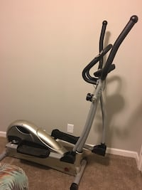 black and silver-colored elliptical trainer