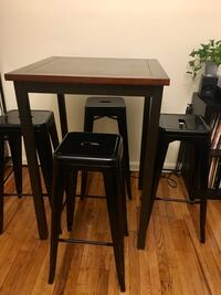 High Top Pub Table and 4 Stools 219 mi
