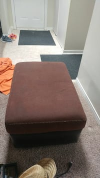 rectangular brown suede ottoman Barrie, L4M 5V9