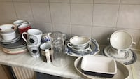 white and blue ceramic dinnerware set Romford, RM1 1DL