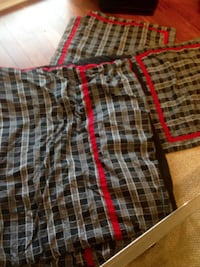 black, white, and red plaid shorts KELOWNA