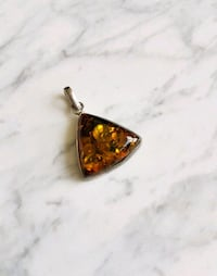 Green Amber Pendant  Vancouver