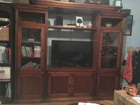 Real wood TV wall unit cabinet New York, 11228