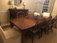 Dining room table in great condition. Has 1 leaf in it now. Length is 96 inches wide   Hingham, 02043