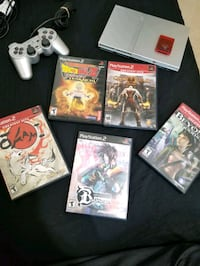 ps2 slim with 5 games controller and memory card Toronto, M1W 2K7