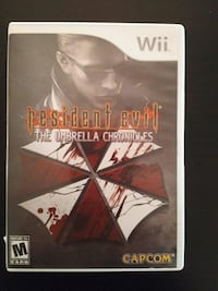 Nintendo Wii Resident Evil the Umbrella Chronicles Vaughan, L4L