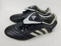 pair mens soccer cleats size 8.5of black-and-white Adidas cleats Kelowna