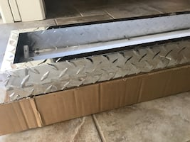 Fluorescent light fixture Lithonia lighting's diamond plate linear