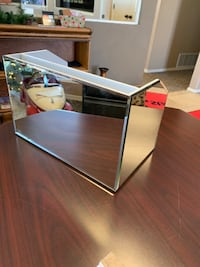 Rectangular clear glass desk organizer Amarillo, 79109