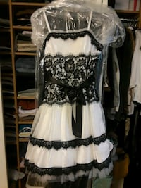 White and black lace dress Rockville, 20853
