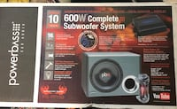 "600W PowerBass 10"" Woofer System W Capacitor San Jose, 95135"