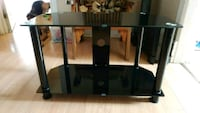 Black Tempered Glass TV Stand