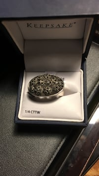 Size 8  solid 925 silver marcasite ring new Virginia Beach, 23451