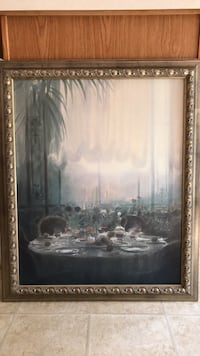 Antique Wall art.   Beautiful  painting  (Canvas , Oil)
