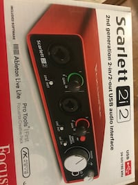 Focusrite SCARLETT-2I2-2nd-GEN 2x2 USB 2.0 Audio Interface Toronto, M3M 1K2