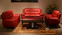 Red sofa set Montréal, H4N 1J6