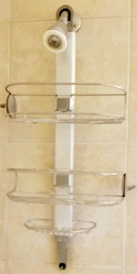 Gently Used High End Shower Caddy - Titanium Finish $25 OBO