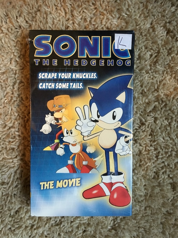 Used Sonic The Hedgehog Rare Vhs In Plastic For Sale In Millcreek Letgo