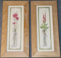 2 Framed Prints - Flowers in Vase BRIDGEPORT