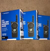 3 Pack of Motorola CLS1410 Two way Radio Walkie Talkies
