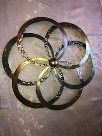 Metal wall flowers Euc set of two Lancaster, 17602