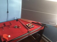 Kids red and black billiard table