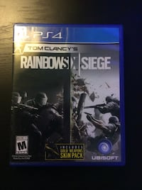 Rainbows X Siege PS4 game case