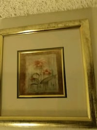 two brown wooden framed painting of white petaled flowers Los Angeles, 90011