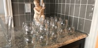 Clear glass decanter /drinking glasses(23 Newmarket