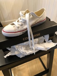 pair of white adidas low-top sneakers with box Virginia Beach, 23451