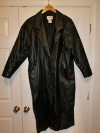 Long Black Leather Coat Elkridge