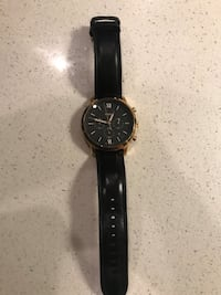 Fossil black and gold watch Port Coquitlam, V3B 3M3