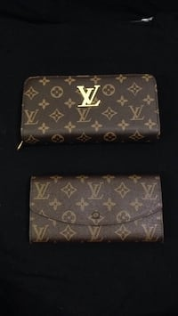 two brown Louis Vuitton leather wallets Ottawa